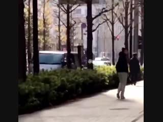Harry walking in tokyo
