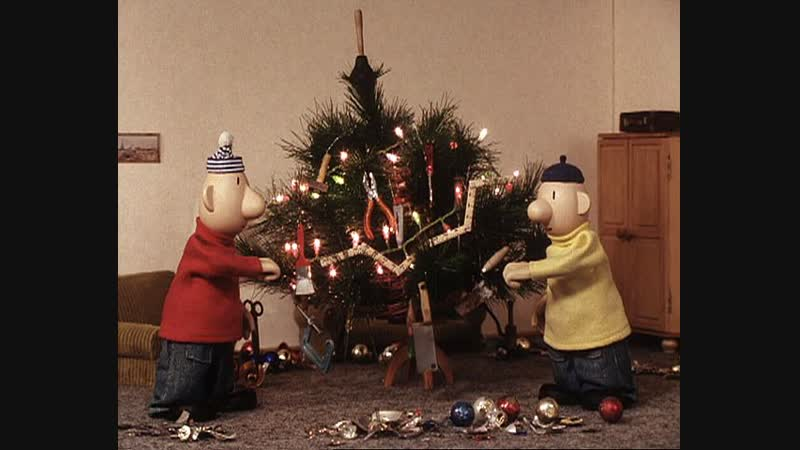 Пат и Мат ( Рождественская елка) 2004, Чехия, мультфильм