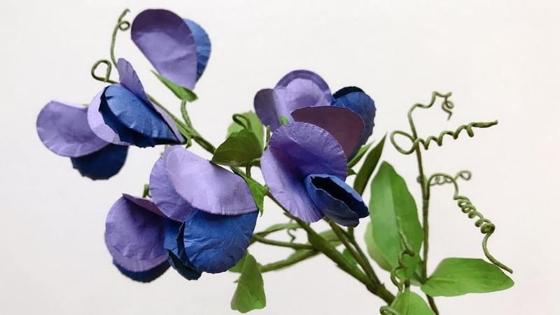 ABC TV   How To Make Easy Pea Paper Flower   Flower Die Cuts - Craft Tutorial - Craft Tutorial