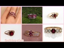 Stylish and new gold ruby rings styles for women's/ engagement and wedding rings