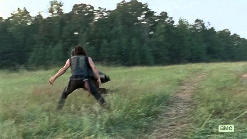 The Walking Dead - Funny Jesus Chase Scene S06E10 (Benny Hill Music)