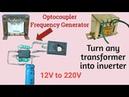 12V to 220V inverter   Optocoupler Inverter   Very easy