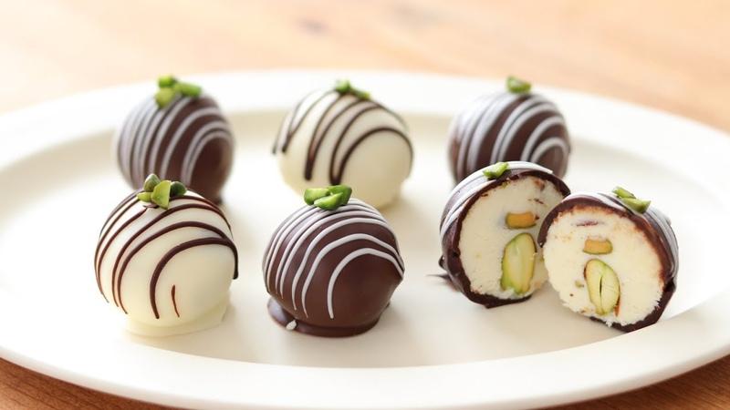 バレンタインチョコ*クリームチーズ・チョコトリュフの作り方&12521