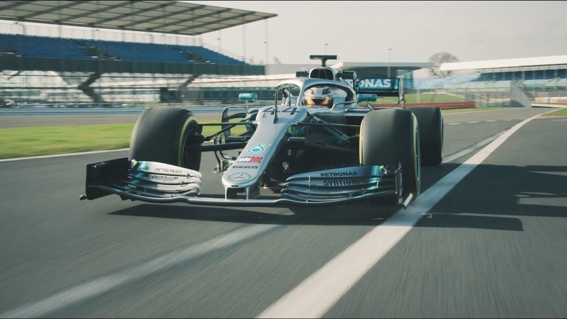 2019 Mercedes F1 Car in Action W10 Takes to the Track!