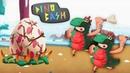 Dino Bash ПЕРВОБЫТНЫЕ АНИМАТОРЫ и ЯДОВИТЫЕ СНАРЯДЫ Детский летсплей в игре про ДИНОЗАВРОВ