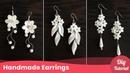 3 Simple Wedding Pearl Earrings. Bridal Drop Earrings Tutorial. Craft Ideas