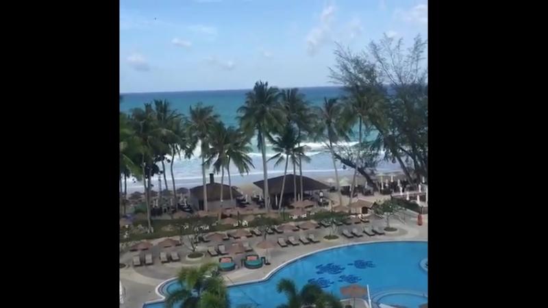 Пляж отеля Le Meridien 13.07.2018
