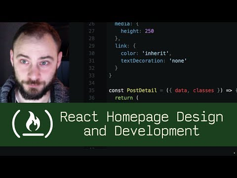 React Homepage Design and Development (P5D33) - Live Coding with Jesse
