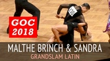 Malthe Brinch Rohde &amp Sandra Sorensen Пасодобль GOC2018 GrandSlam LATIN - 3тур
