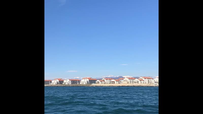 Чёрное море прогулка на яхте март2019