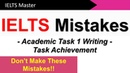 IELTS Writing Task 1: How to get a High Task Achievement Score