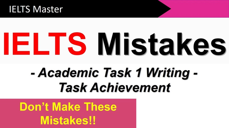 IELTS Writing Task 1 How to get a High Task Achievement Score