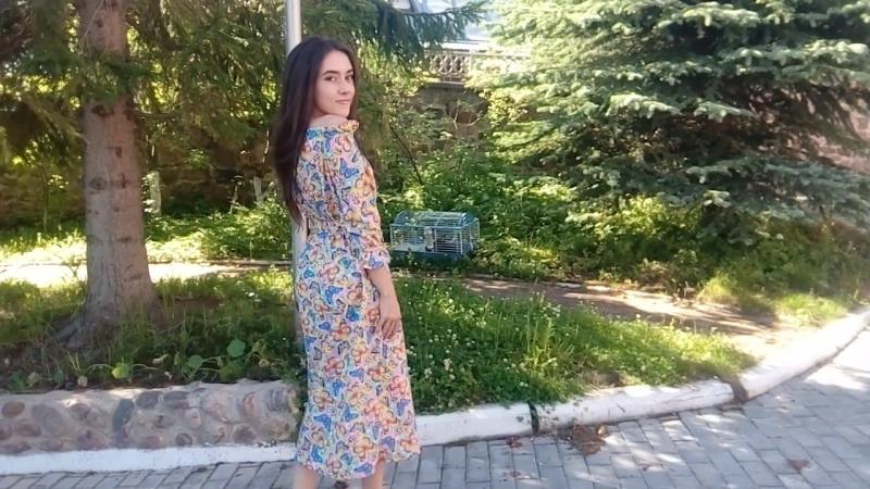 Платье Розы2, расцветка Бабочки