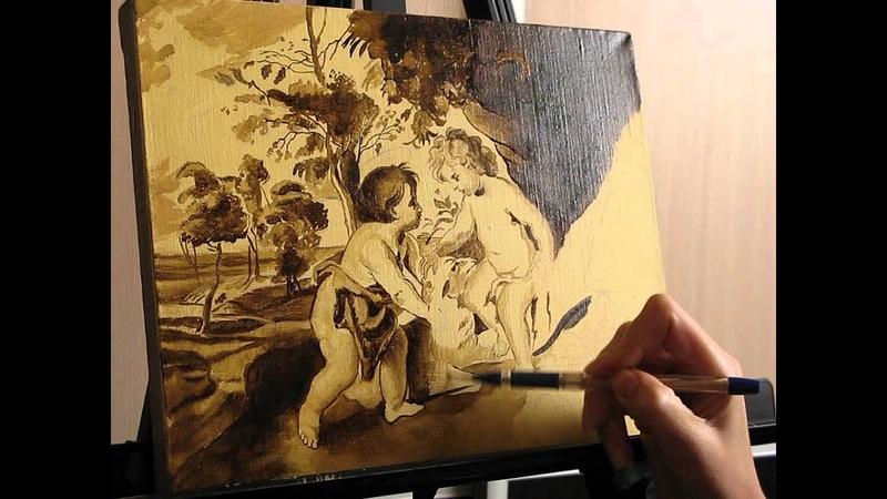Уроки живописи маслом. Часть 2. Копия Рубенса. Фламандская техника живописи.