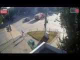 Эксклюзив! Как именно произошла авария на пересечении Крупской и Ворошилова 12.07.18 (Момент аварии!)