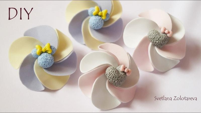 Зефирки из фоамирана Детские резиночки для волос