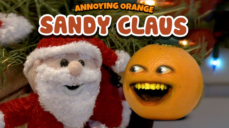 Annoying Orange Sandy Claus