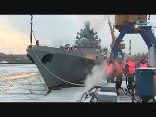 Корабль «Адмирал флота Касатонов» уходит на ходовые испытания