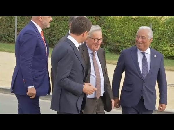 Jean Claude Juncker titube au sommet de l'OTAN