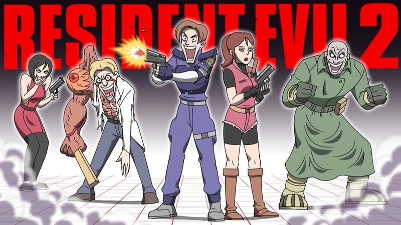 Resident Evil 2 Parody Animation GAME SHENANIGANS