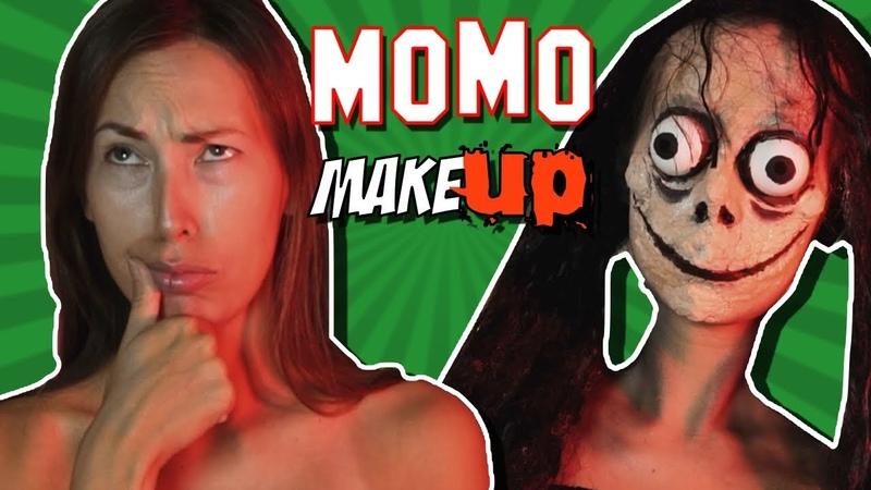 DIY - ГРИМ МОМО   Макияж на хэллоуин   Momo makeup tutorial