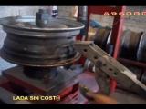 reparar y nivelar un rin automovil