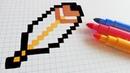 Handmade Pixel Art - How To Draw a Feather pixelart