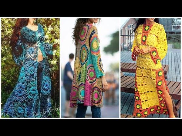 Shrug style dress || long jackets for women's || crochet dress || crochet jackets for girls ||