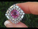 GIA Certified VVS Natural Pink Sapphire Diamond 14k White Gold Engagement Ring - A141527