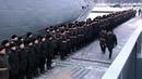 Намалом ракетном корабле «Мытищи» подняли Андреевский флаг. Новости. Первый канал
