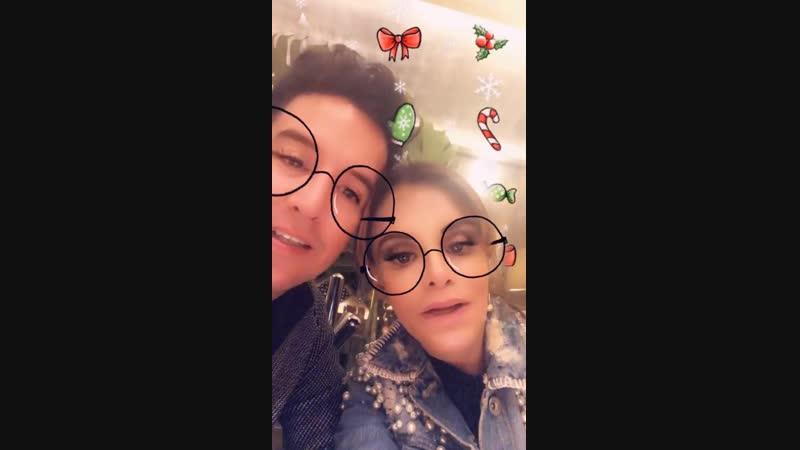 Lucía Méndez - Happy New Year wishes, with Juan Rios DeLaFuente (17/12/2018)