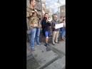 Активисты в Киеве возле Roshen цитировали Виталия Тележенко - первого погибшего бойца тактической группы Беларусь