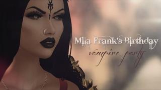 Mila Frank's Birthday | vampire party. Second Life September 2, 2018