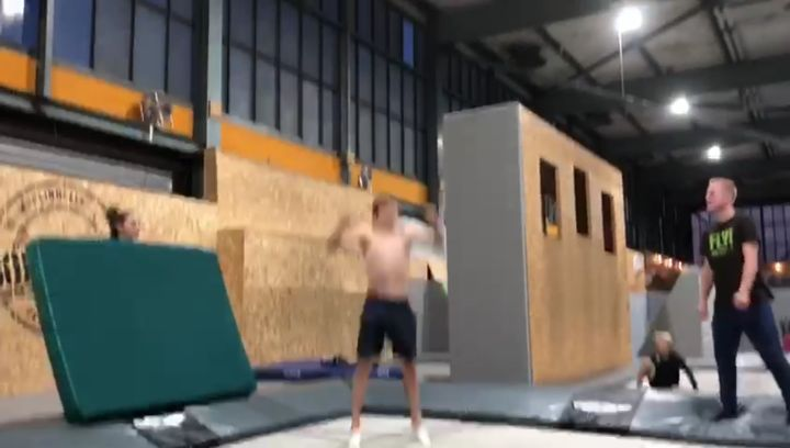 """Robin Hager on Instagram: """"Old 1-6 in kabooms with no turnout at all🔥 @ramonwalter @fionaglasl @_toommyy_ @bouncelab_rueti @gregroetrampoline grtc..."""