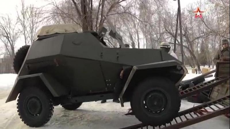 Ульяновские реконструкторы восстановили уникальный броневик времен Великой Отечественной