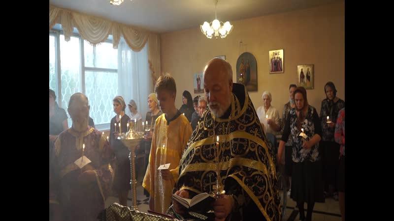 """Служба """"Двена́дцати Ева́нгелий"""" (иерей Владимир Михальцов читает Евангелие от Марка), 25.04.19 г."""