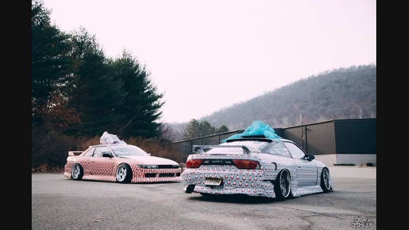 Drift Vine Nissan Silvia S13 180sx New Year's drift on the street