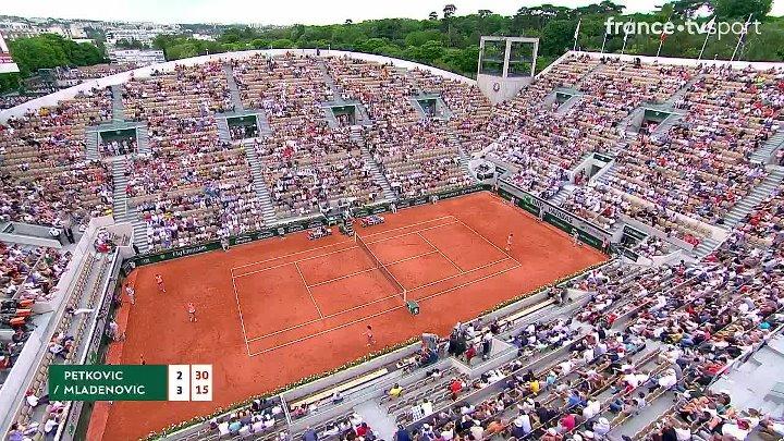 WTA 2018 French Open - 1st Round - Andrea Petkovic vs Kristina Mladenovic (28-05-2018)