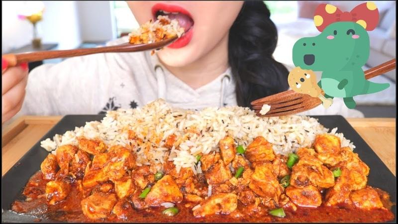 ASMR PULAO RICE CHICKEN KORMA | PAKISTANI CUISINE | EATING SOUNDS | NO TALKING