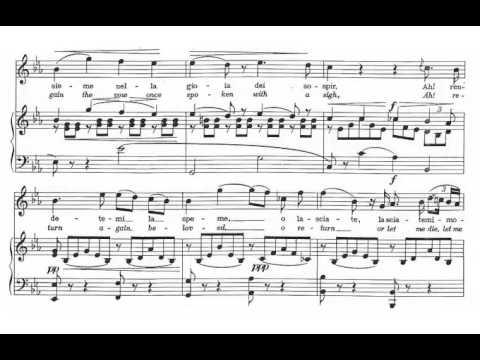 Qui la voce sua soave... Vien, diletto (I Puritani - V. Bellini) Score Animation