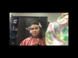 Прикол окрашивание, омбре, шатуш, стрижка женская пермь, парикмахер, розовые волосы, цветное мелирование смешно