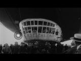 LZ-127 Graf Zeppelin airship being secured to mooring mast in Friedrichshafen, Ge...HD Stock Footage
