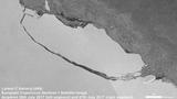 Iceberg A-68 drifts away from Larsen-C Ice Shelf, Antarctica