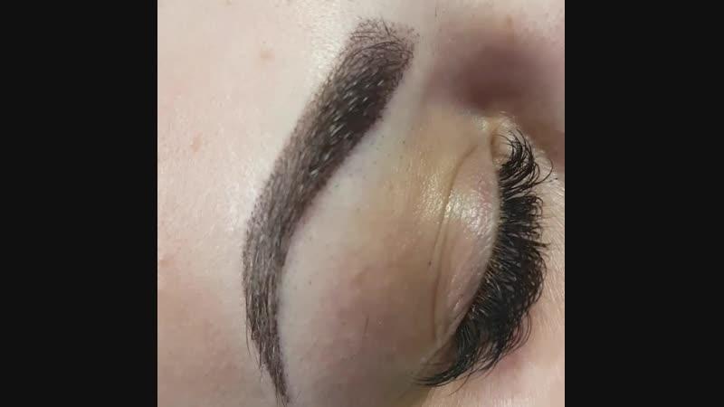 перманентный макияж (пудровые бровки)