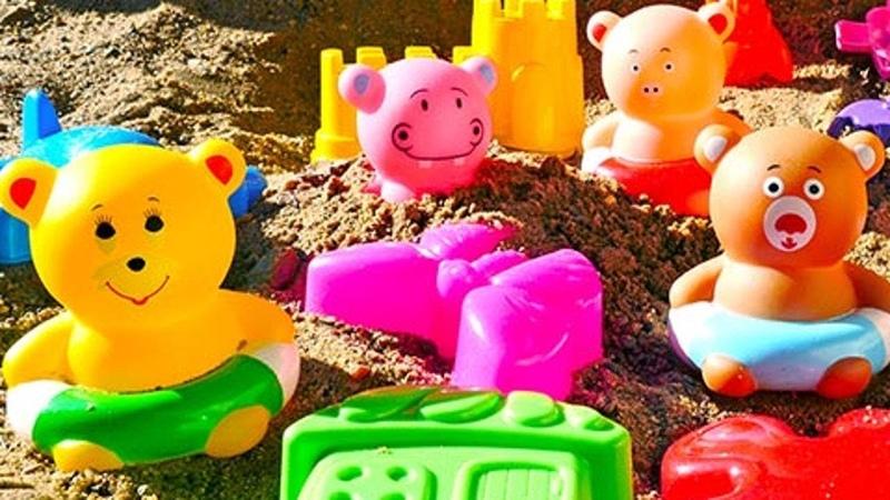 Для малышей. Игры для детей в песочнице. Развивающие игрушки