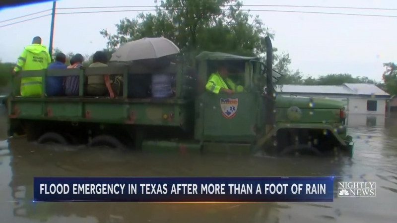 Parts Of Texas Submerged After Heavy Rain Triggers Flash Floods ¦ NBC Nightly News
