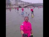 САП серфинг в Париже. Очень крутое зрелище!