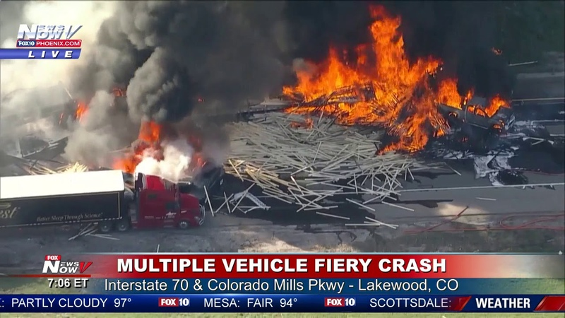 HORRIFIC CRASH SCENE: One Death, Injuries Reported Following Pileup, Fire in Lakewood, CO