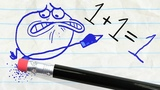 The Pencil teaches Pencilmate a lesson -in- THE GRAPES OF MATH