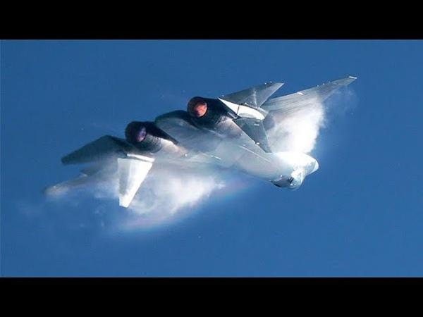 Высший пилотаж. Су-57 (ПАК ФА Т-50). Сброс топлива в воздухе